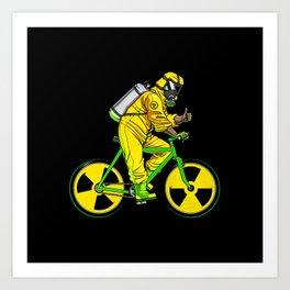 Radioactivity Bike Art Print