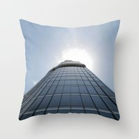 wiz khalifa Throw Pillows featuring Burj Khalifa by WikiArquitectura