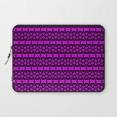 Dividers 02 in Purple over Black Laptop Sleeve