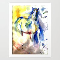 Watercolor Mustang Art Print