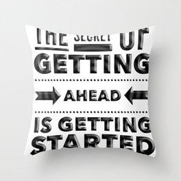 Start phrase motivational quote Throw Pillow