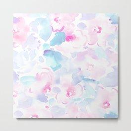 beautiful pastel florals Metal Print