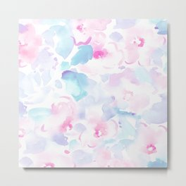 beautiful pastel florals Metal Print