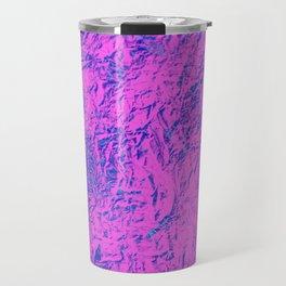 Textured Pink And Blue Travel Mug
