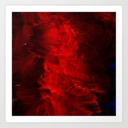 Red Abstract Paint Art Print