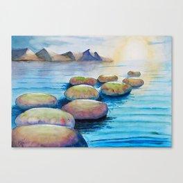 Kabbalah Sefirot Series; Stepping Sefirot Canvas Print