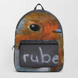 English Robin Painting Backpack
