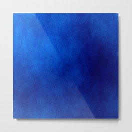 Misty Deep Blue Metal Print