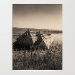 The Old Fishing Boats Poster