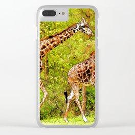Wild Giraffes - African Wildlife Clear iPhone Case