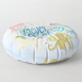 Never Stop Dreaming Floor Pillow
