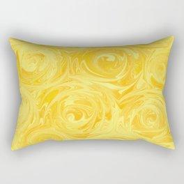 Honey Yellow Roses Abstract Rectangular Pillow