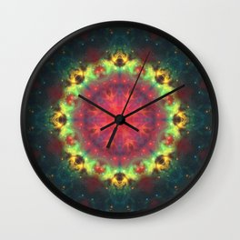 Halo Nebula Mandala Wall Clock