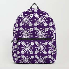 Key Pattern Purple Backpack