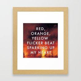 Battle Sparking Up My Heart Framed Art Print