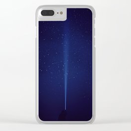 The Blue Sky (Color) Clear iPhone Case