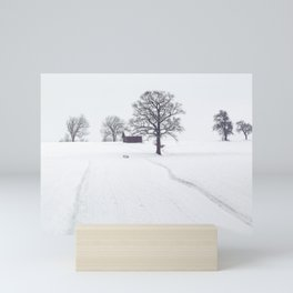 Rural Winter Landscape Mini Art Print