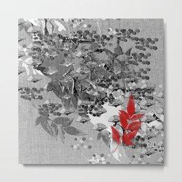 The red leaf Metal Print