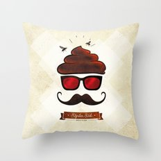 Hipster Hat Throw Pillow