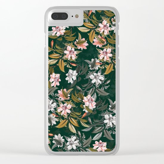 FLORAL PATTERN VIII Clear iPhone Case