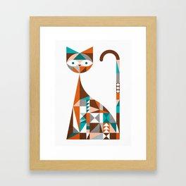 mid-century cat Framed Art Print