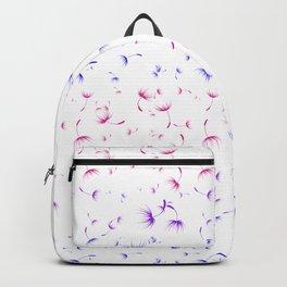Dandelion Seeds Bisexual Pride (white background) Backpack