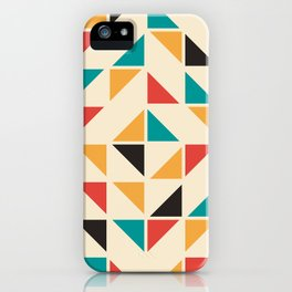 Triangles Mid Century Pattern iPhone Case