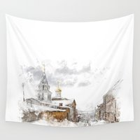 russian Wall Tapestries featuring Russian landscape by ivaDima