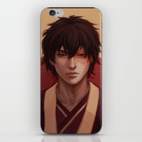 zuko iPhone & iPod Skins featuring Zuko by Nymre