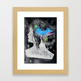 Perfil Series: Stencil 1 (Grey Wash and Color 1--Inverted) Framed Art Print