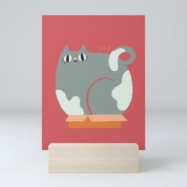 Box cat Mini Art Print