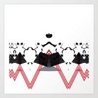 rorschach Art Prints featuring Rorschach by Isaak_Rodriguez