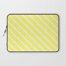 Custard Diagonal Stripes Laptop Sleeve