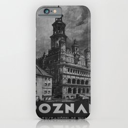retro classic Poznan poster iPhone Case
