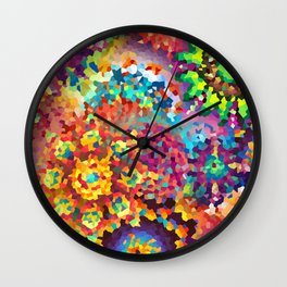 Party of Colors Wall Clock
