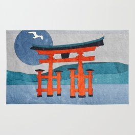 Japanese Shinto at Evening Rug