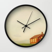 old school Wall Clocks featuring Old School by Finch & Maple