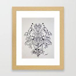 Show Me Your Skeleton Framed Art Print
