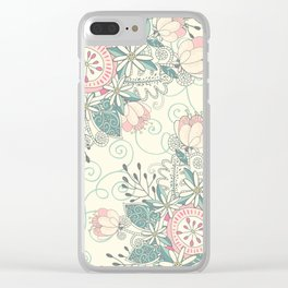 Blooming Soul 2 Clear iPhone Case