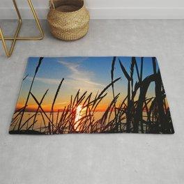Sunset Through the Beach Grass Rug