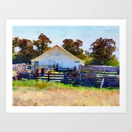 Farm Outbuildings Art Print