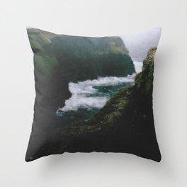 Analogue Cliffs Throw Pillow