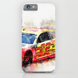 Joey Logano on Fire iPhone Case