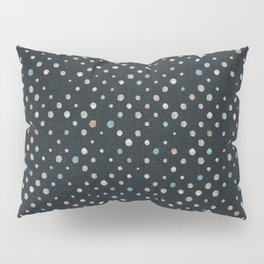 LOTS OF DOTS / black / linen beige / light blue / rose beige Pillow Sham