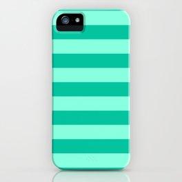 Teal and Aqua Mint Stripes iPhone Case