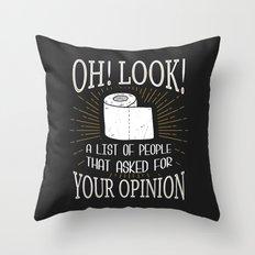 Oh! Look! Throw Pillow