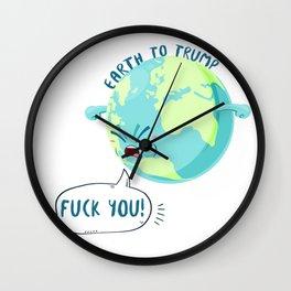 Earth to Trump Wall Clock