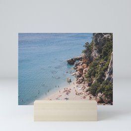 Beach time   Sardinia Italy Travel Photography   Bright summer Photo Print Mini Art Print