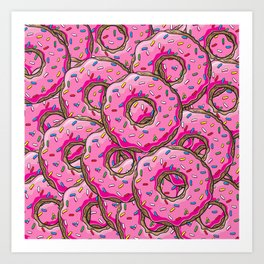 You can't buy happiness, but you can buy many donuts! Art Print