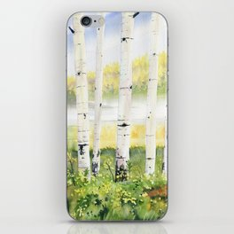 Behind The Birch Trees iPhone Skin